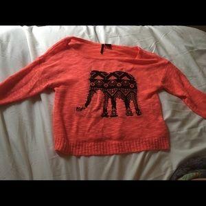 Hot pink elephant sweater