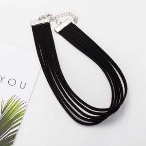 5 for $25 Multilayer Leather Choker Necklace