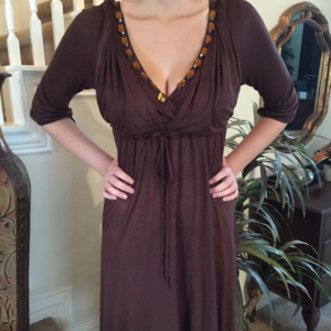 BCBG Max Cocoa and Gold HOT Dress