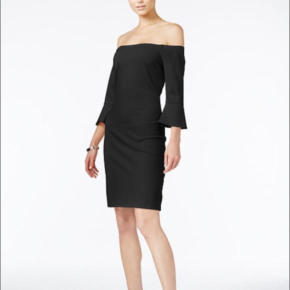 8c8e0aae70d2 Bar III Dresses | Off The Shoulder Bell Sleeve Dress Lbd | Poshmark