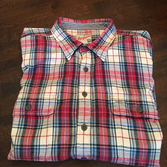 Gap jeans gap jeans xxl long sleeve plaid flannel shirt for Flannel shirt and jeans