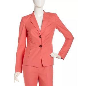 Lafayette 148 12 Pink Envelope-Collar Jacket NWT