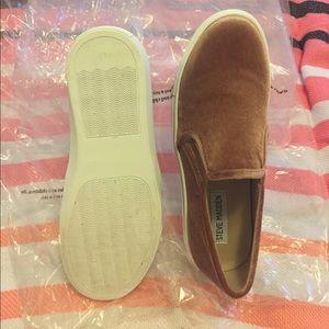 6e7a8ac23b6 Steve Madden Shoes - Steve Madden Blush Velvet Ecntrcv Slip-On Sneaker