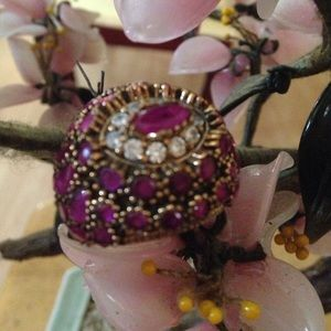 Vintage 925 natural ruby ring