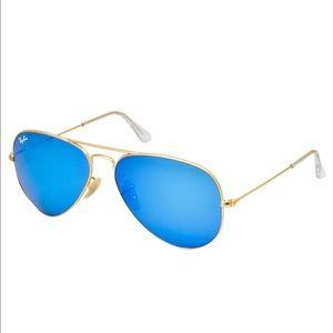 Ray-Ban Original Aviator Gold Matte Sunglasses