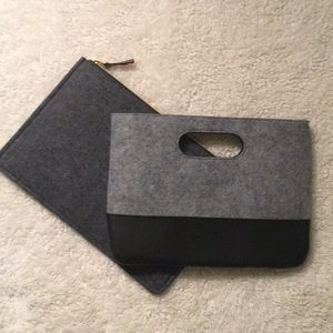 Handbags - Large felt clutch