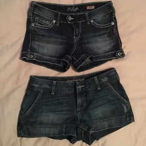 AE & Silver - lot of two LIKE NEW jean shorts