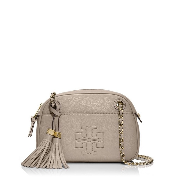 8ce1a527d7c40 Tory Burch Thea Chain Crossbody in French gray. M 596a29ae13302add46005dc9