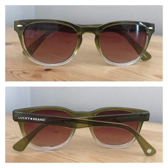 5414cbee7fc Lucky Brand Accessories - Lucky Brand Twilight Olive Gradient Sunglasses