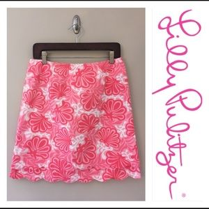 Lilly Pulitzer Skirts Clam Pink Me Shell Skirt Scalloped