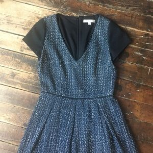Banana Republic Wool Dress with Navy Cap Sleeve