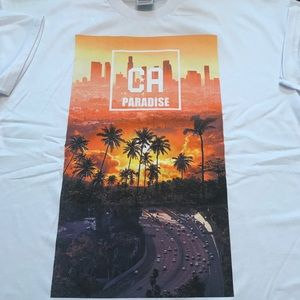 Other - White Tee- California Paradise (NEW LISTING)