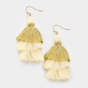 Layered Tassel Earrings