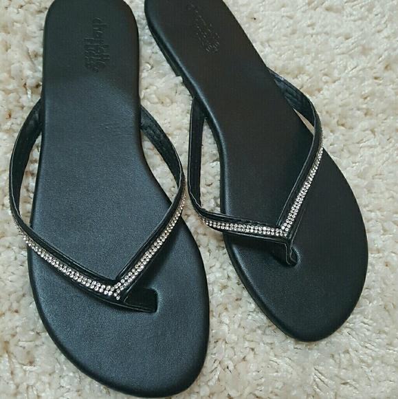 c2298e199d4 Charlotte Russe Shoes - ☆NWOT☆ Rhinestone Strap Sandals (BLACK)