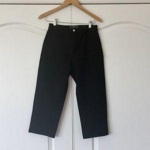 NYDJ Black Denim Crop Jeans