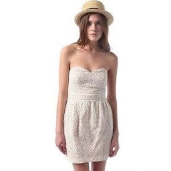 Pins And Needles Clothing Interesting Urban Outfitters Dresses Pins And Needles White Eyelet Strapless