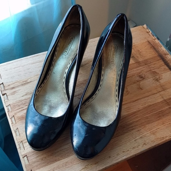 Coach Shoes - Coach Black Patent Leather Pumps