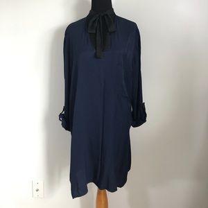 Zara Dresses - Zara Basic Navy Black Tie Shift Dress sz XL