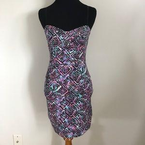 Aritzia Dresses - Talula Aritzia Pink Purple Black Turquoise BodyCon