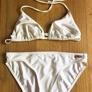Vintage Deadstock Italian White Bikini, Large
