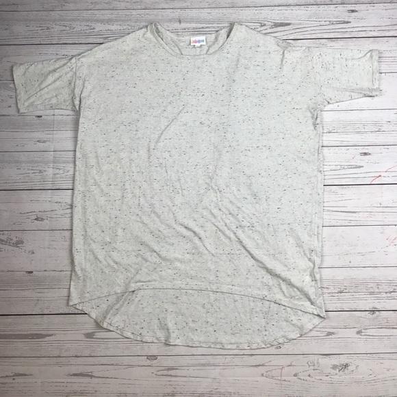 LuLaRoe Irma Light Grey Multi-Color Fabric