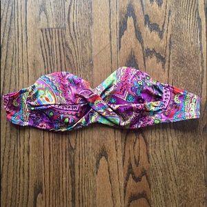Victoria's Secret bandeau paisley swim top