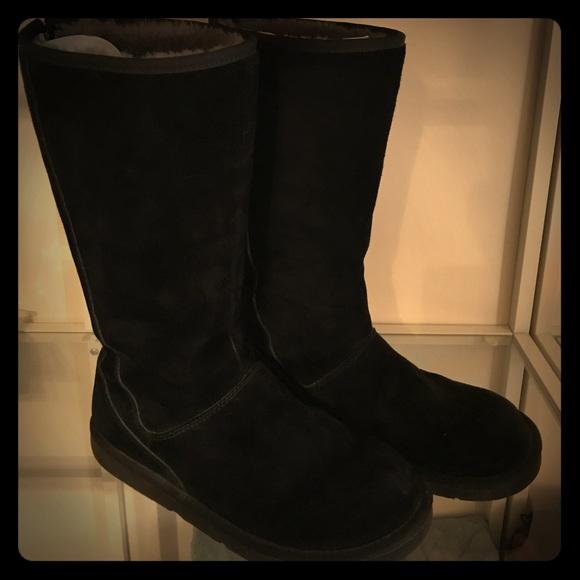 ba4f088b979 Ugg Back Zip Boots - Black, Size 10