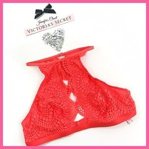 •Victoria's Secret• Open Lace High Neck bralette