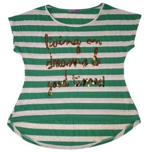 Living On Dreams & Good Times Striped Tee