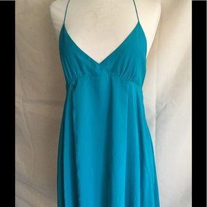 Haute Hippie turquoise silk summer dress