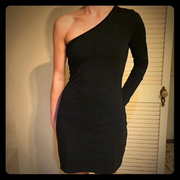 Blaque Market Dresses - BLAQUE MARKET one shoulder black dress