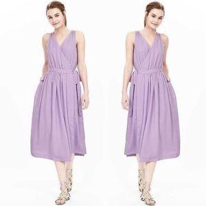 Banana Republic Lilac Midi Wrap Dress
