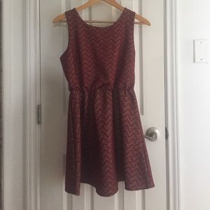 Adorable maroon dress