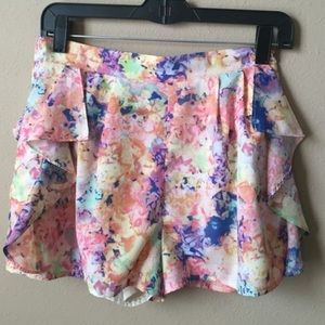 Skies Are Blue Ruffle Side Shorts