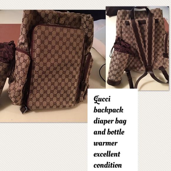 6a3c520bab36e8 Gucci Bags | Authentic Backpack Diaper Bag | Poshmark