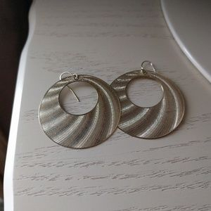 Holographic gold earrings