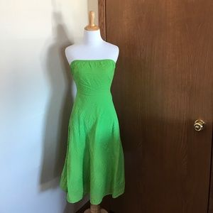 J. Crew Green Strapless Dress Size 0 Petite