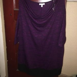 2X lightweight sweater Tunic drape neck