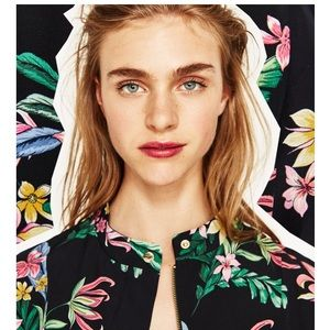 New floral bomber jacket by Zara