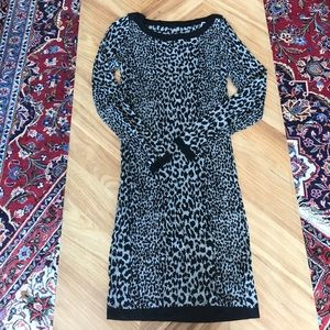 Leopard sweater body con  dress