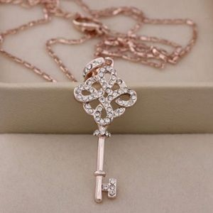 Jewelry - Rose gold key necklace - ONE LEFT