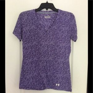 Under Armour Semi-Fitted Purple Workout V-Neck