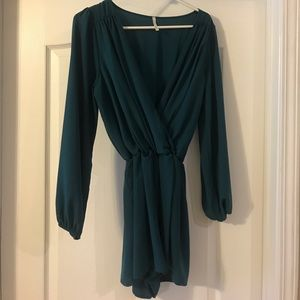 Other - Long sleeve Teal Romper. Size Medium