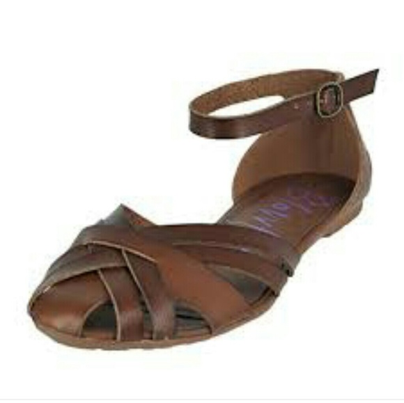 1007fa4b4d4 Blowfish Shoes - BLOWFISH RODE DESERT SAND FLAT ANKLE STRAP SANDALS