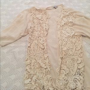 Crochet Shear Kimono