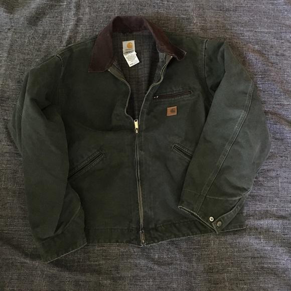 91657fe12 Carhartt Sandstone Detroit jacket / blanket lined