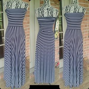 Gorgeous Navy/White Maxi Dress!!!