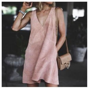 Free People Retro Suede Dress🆕