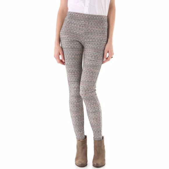 Free People Pants Patterned Double Knit Tights Leggings Poshmark