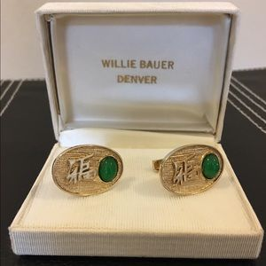 Other - Vintage gold tone cuff links